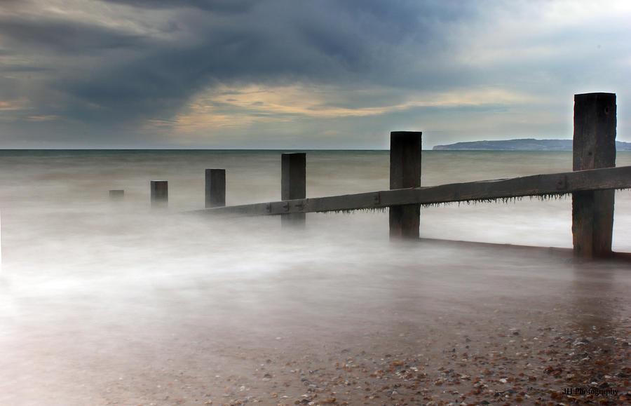 Beach Photograph - Misty Seascape by Jay Harrison