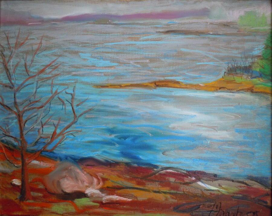 Landscape Painting - Misty Surry by Francine Frank