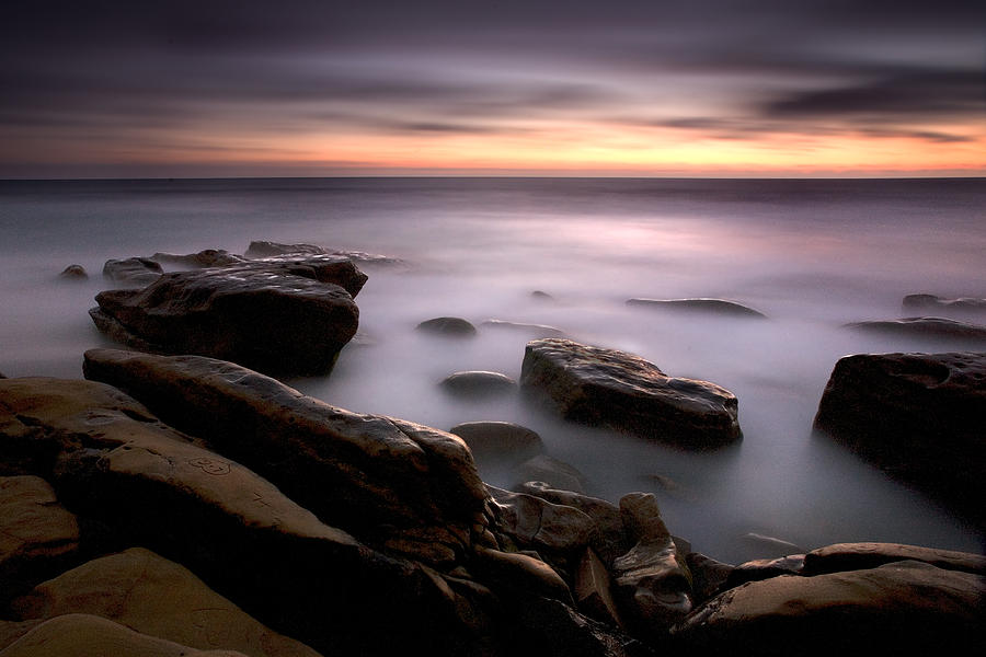 Beach Photograph - Misty Water by Peter Tellone