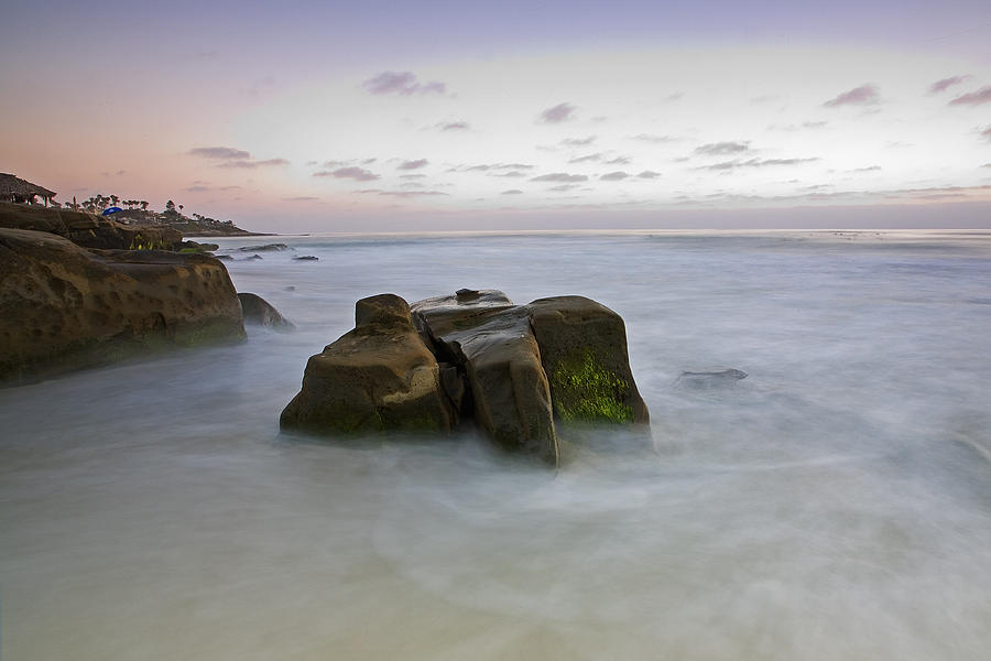 La Jolla Photograph - Misty Waters by Peter Tellone