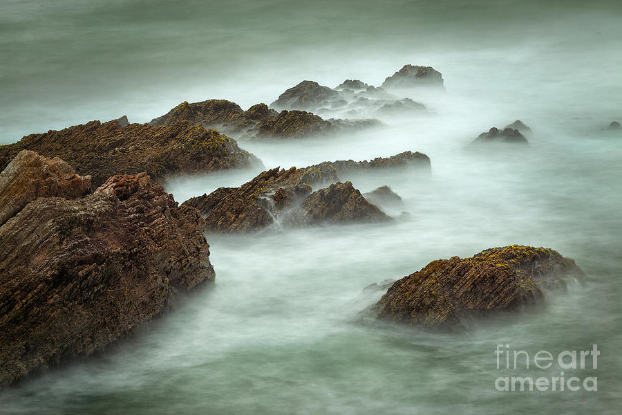 California Photograph - Misty Waves by Alice Cahill