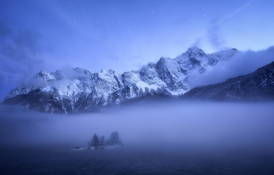 Mountain Photograph - Misty Winter Evening by Daniel F.
