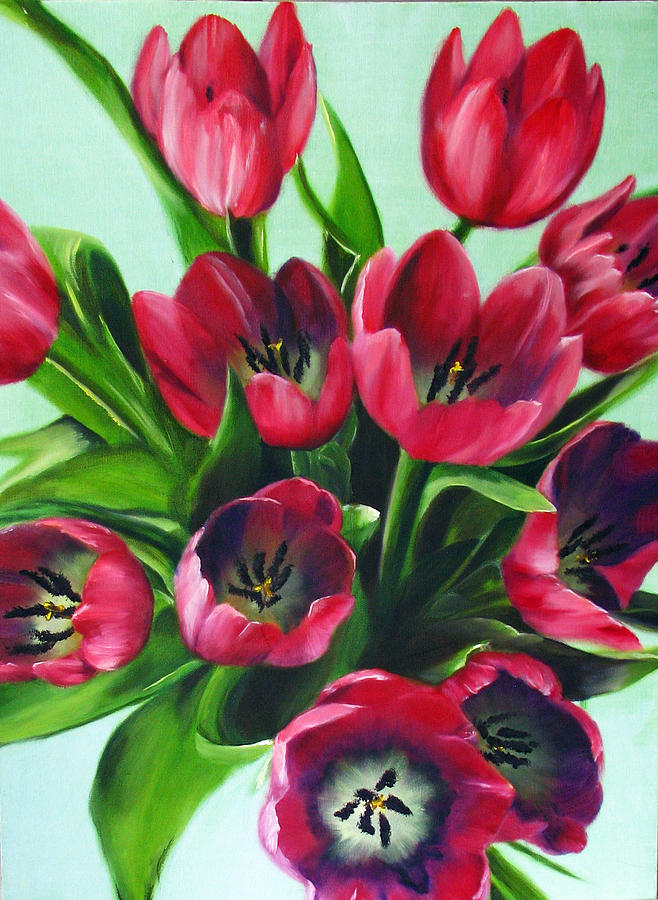 Flower Painting - Mistys Tulips by Sherry Robinson