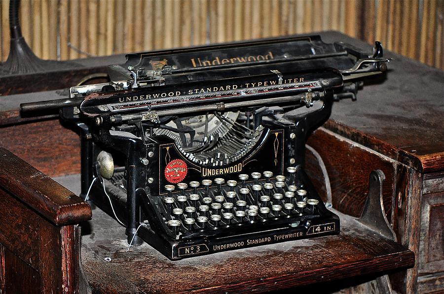 Typewriter Photograph - Misunderstood by Catherine Renzini