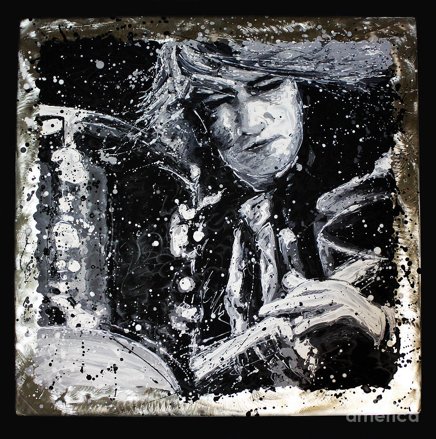 Mitch Mitchell Painting - Mitch Mitchell by Chris Mackie
