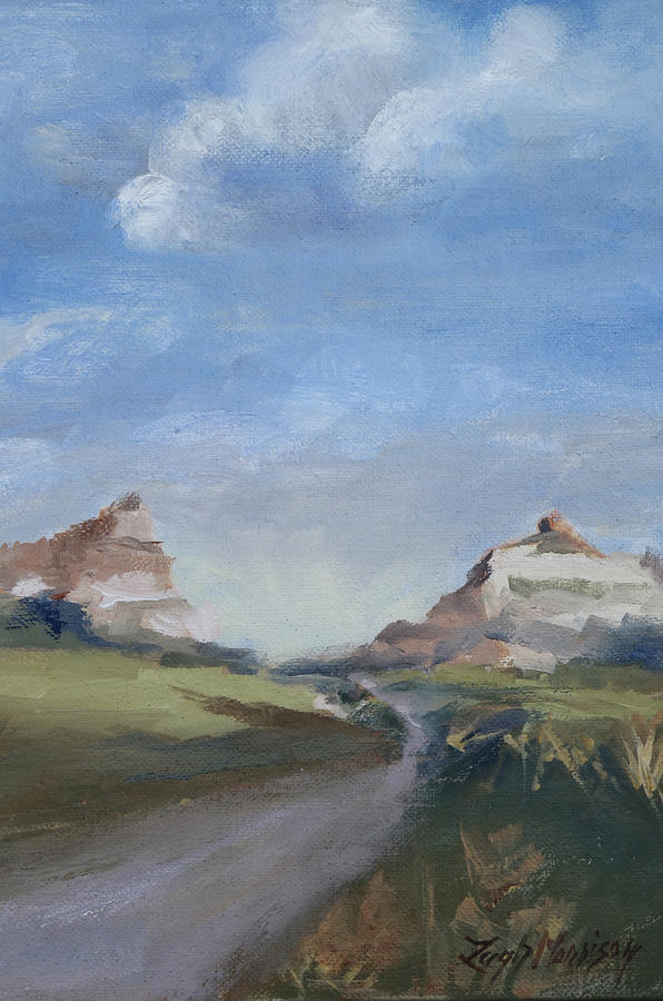 Mitchell Pass Painting - Mitchell Pass In Portrait by Leigh Morrison