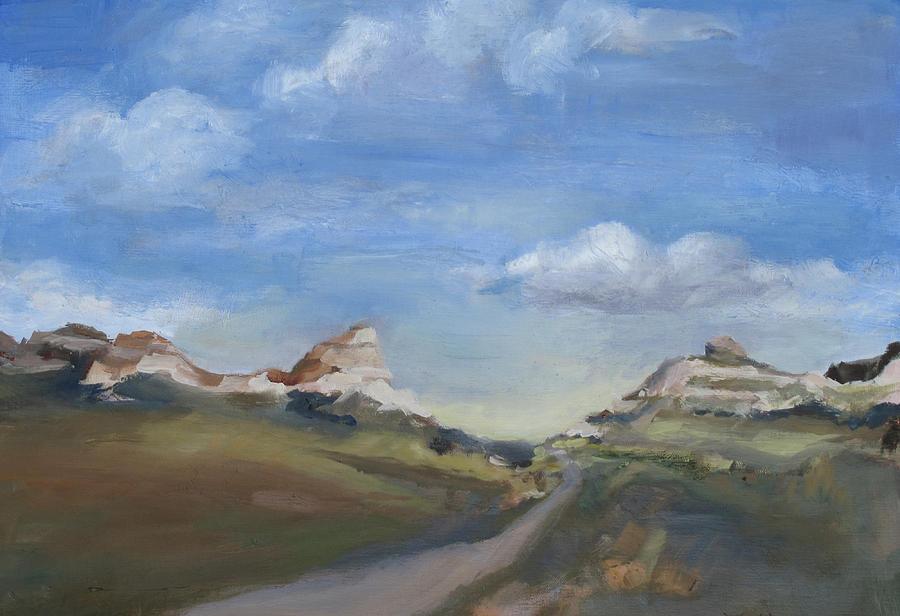 Mitchell Pass Painting - Mitchell Pass Western Nebraska by Leigh Morrison