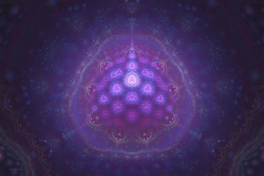 Fractal Digital Art - Mitochondria Arrive by Justin Sanchez