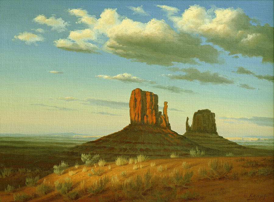 Landscape Painting - Mitten Buttes by Paul Krapf