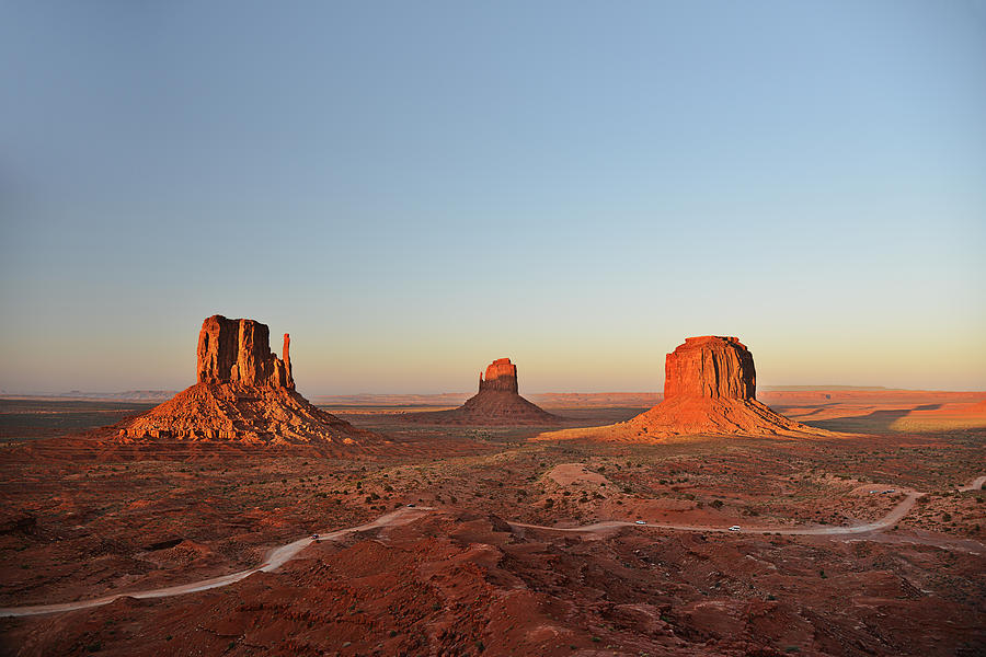 Monument Photograph - Mittens And Merrick Butte Monument Valley by Christine Till