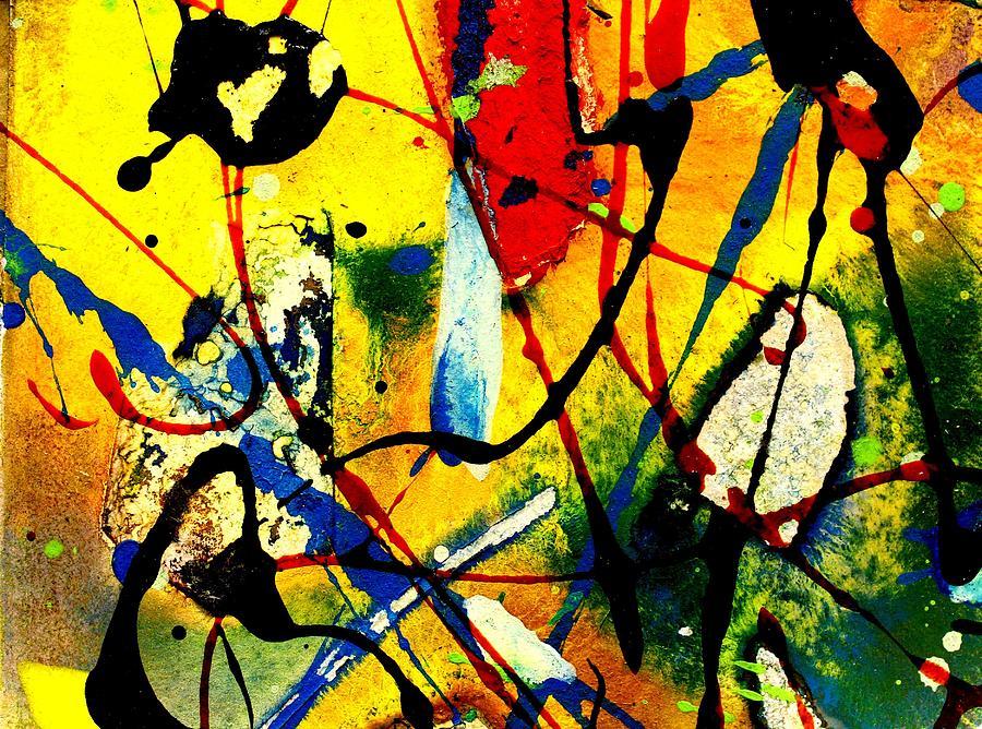 Abstract Landscape Mixed Media - Mixed Media 104 by John  Nolan