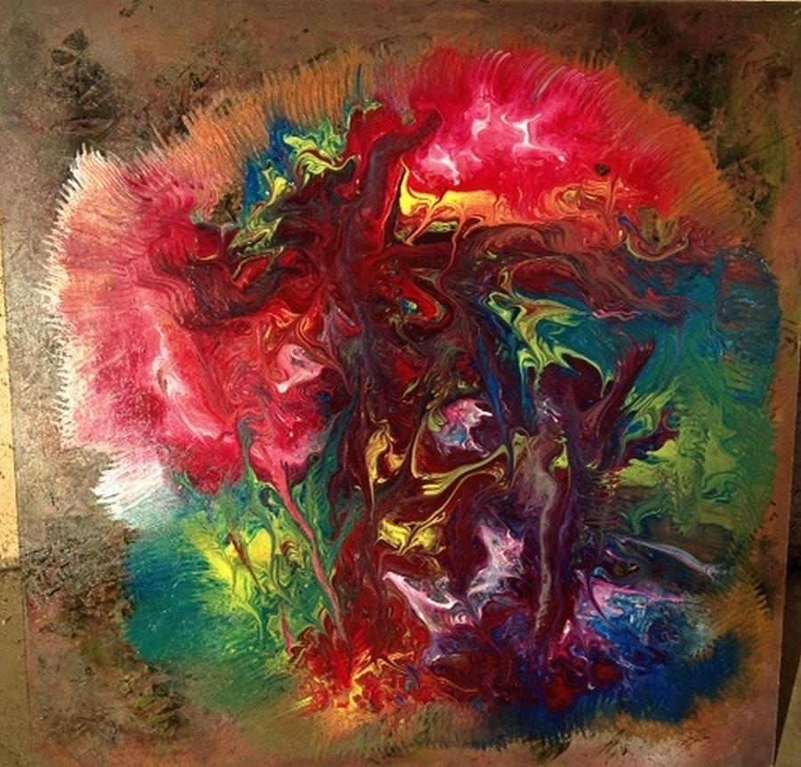 Mixed Media Abstract Post Modern Art By Alfredo Garcia Bizarre Painting by Alfredo Garcia