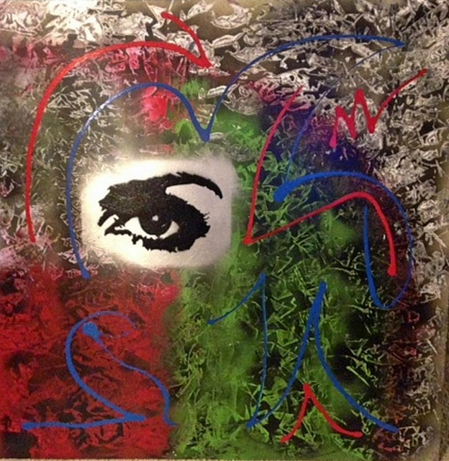Andy Warhol Painting - Mixed Media Abstract Post Modern Art By Alfredo Garcia Eye See You 2 by Alfredo Garcia