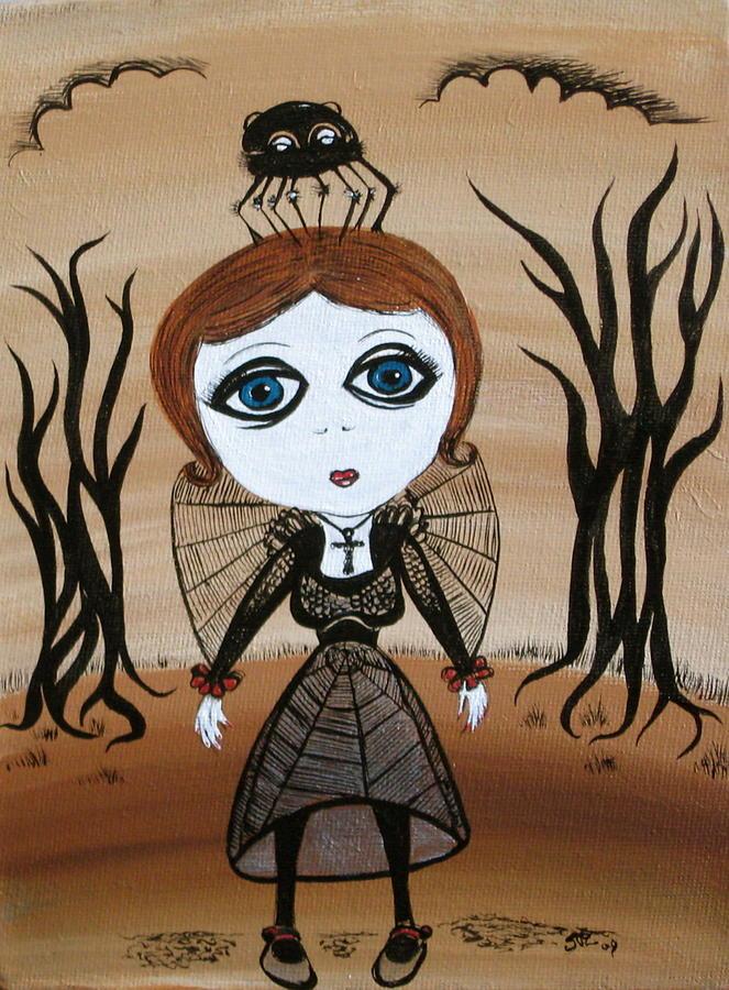 Gothic Painting - Miz Goth by Sue Wright