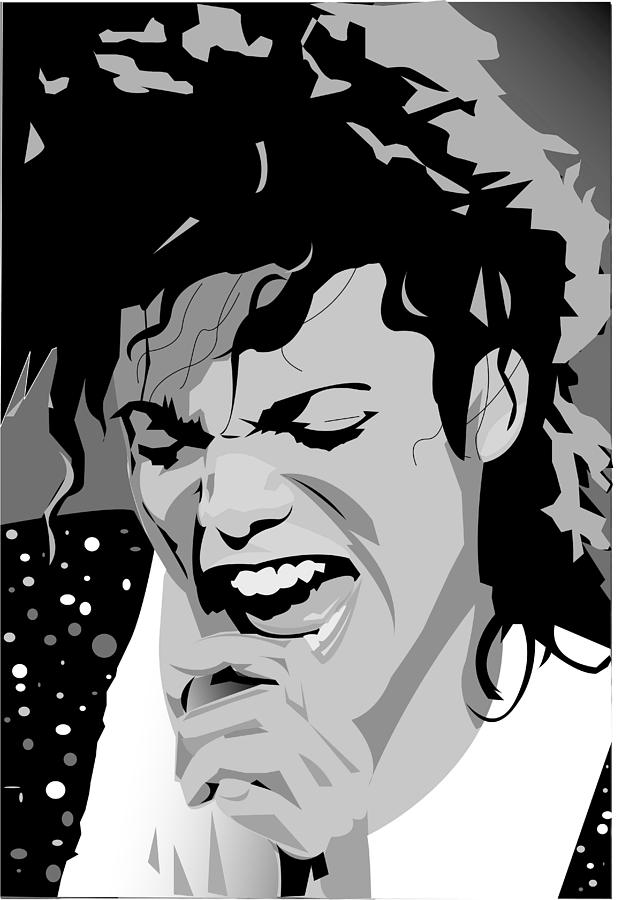 Mj Digital Art - MJ by Jayakrishnan R