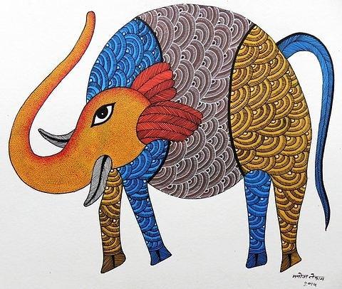 Mkt 151 Painting by Manoj Kumar Tekam