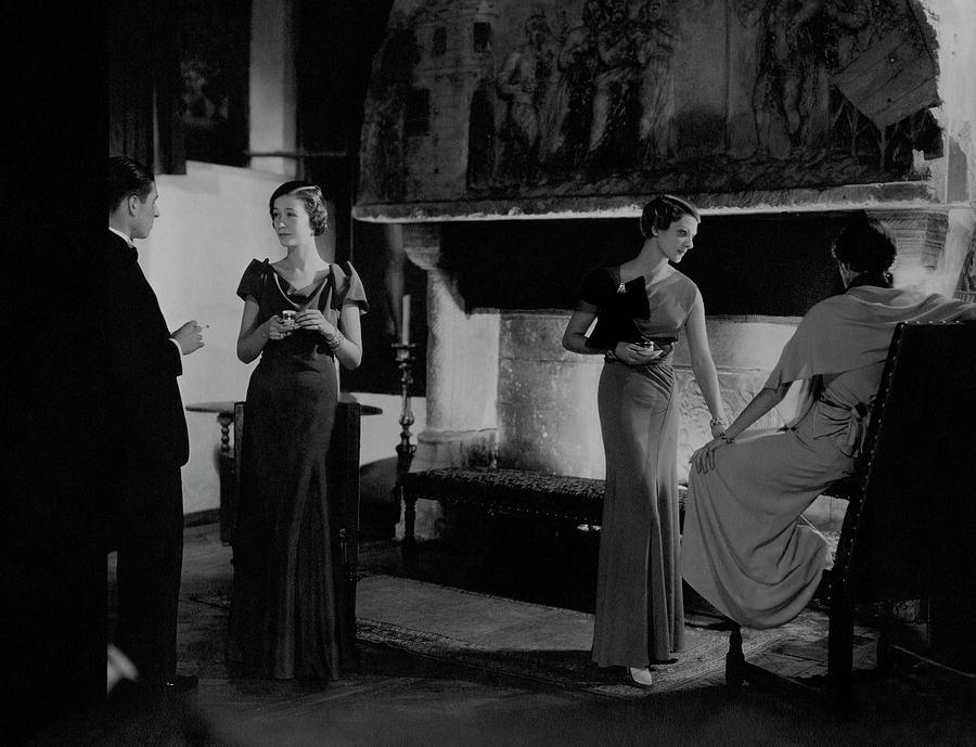 Mlle. Koopman Wearing A Marocain Dress Photograph by George Hoyningen-Huene
