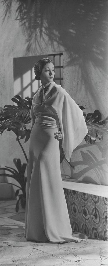 Mlle. Koopman Wearing Augustabernard Photograph by George Hoyningen-Huene