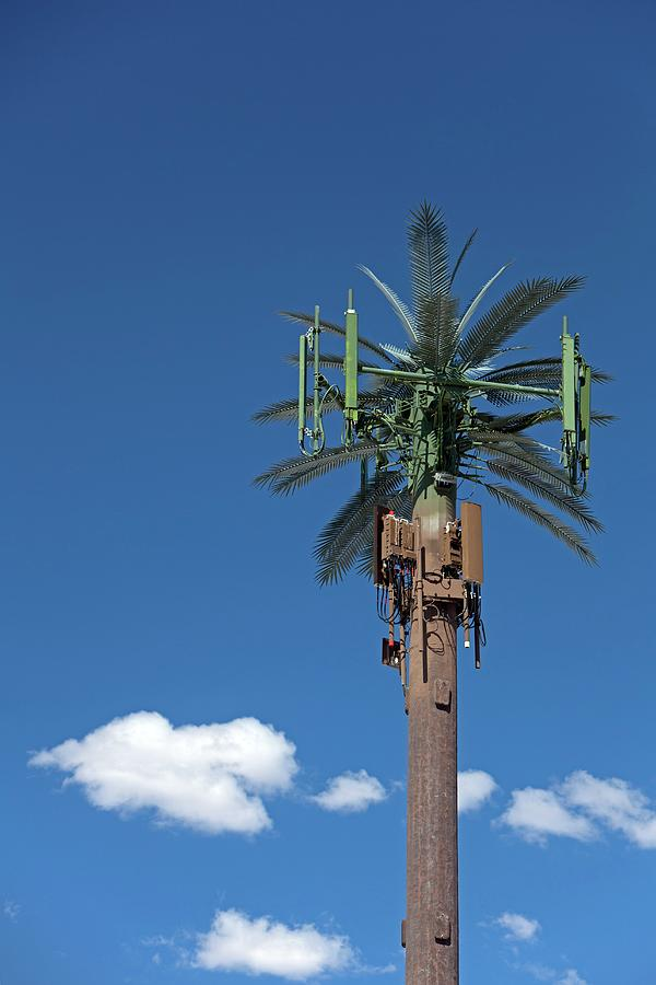 Pole Photograph - Mobile Phone Communications Tower by Jim West
