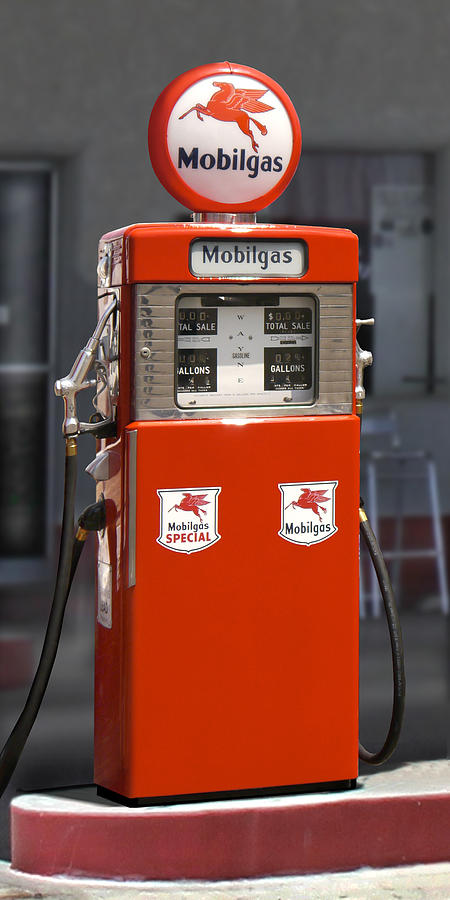 Mobil Gas Card >> Mobilgas - Wayne Double Gas Pump Photograph by Mike McGlothlen