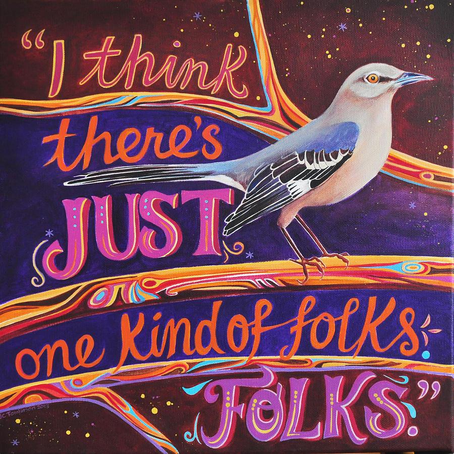 Mockingbird Painting - Mockingbird by Jane Tomlinson