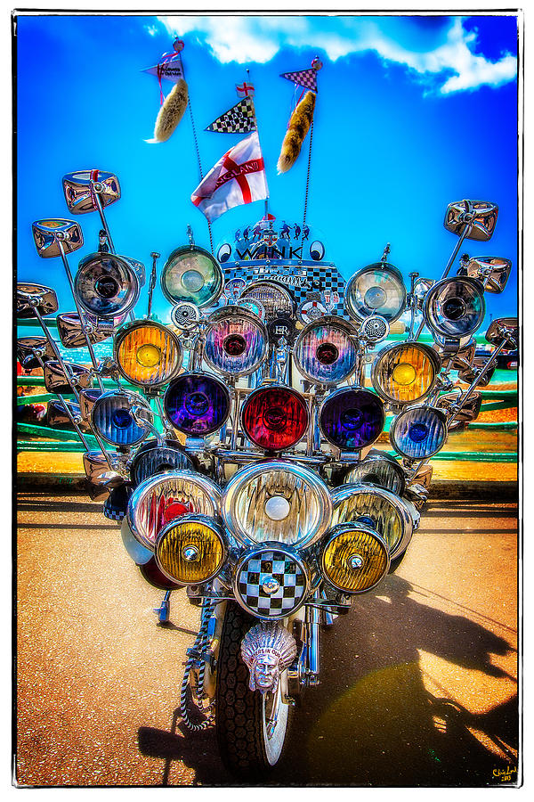 Mod Photograph - Mod Transport by Chris Lord