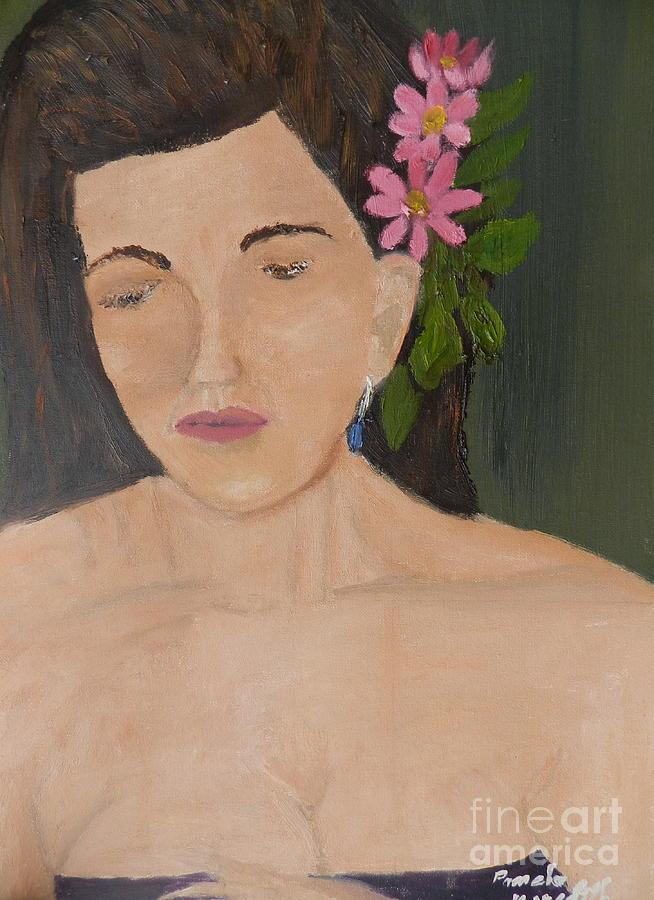 Portrait Painting - Model 3 From Shane Pecks Photograthy by Pamela  Meredith
