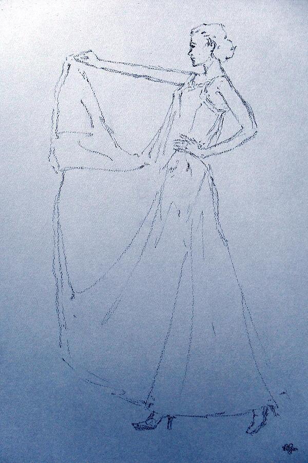 Human Drawing - Model 3057 by Mohd Raza-ul Karim