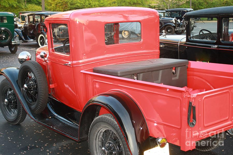 Model A Cars Photograph - Model A Red Truck by Connie Mueller