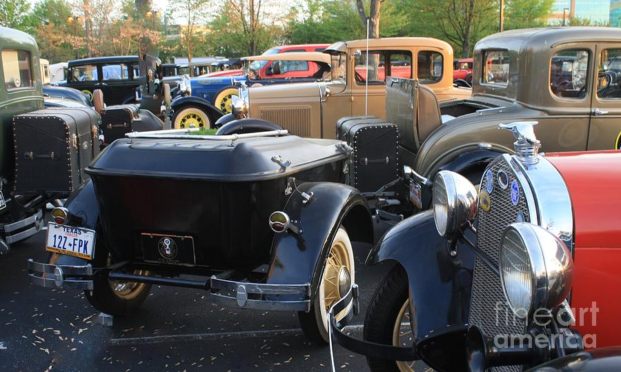 Model A Cars Photograph - Model A With Trailor by Connie Mueller