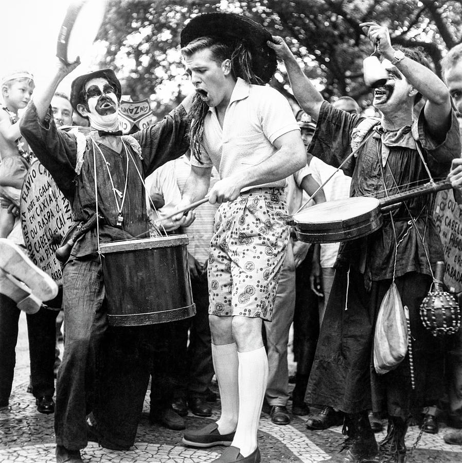 Model Drumming At A Carnival Photograph by Richard Waite