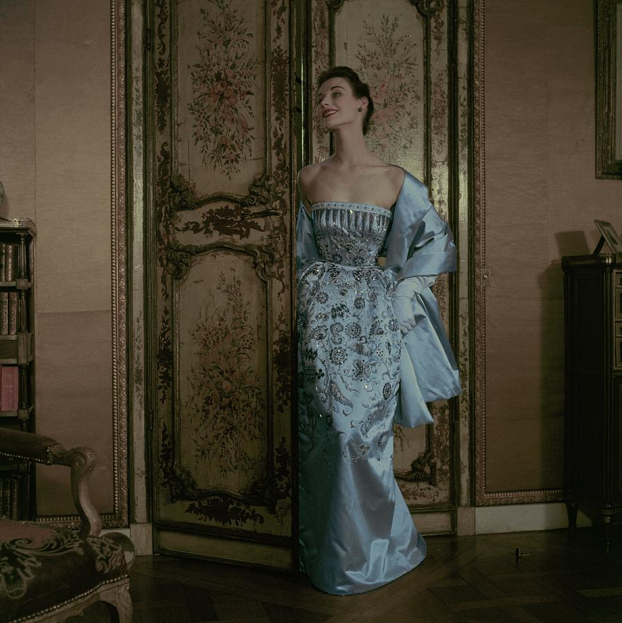Model In A Dior Gown by Frances McLaughlin-Gill