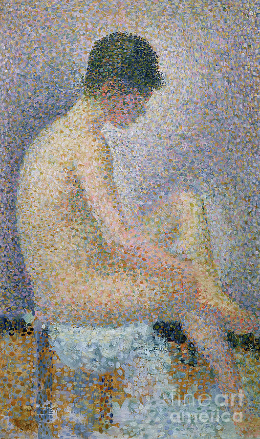Seurat Painting - Model In Profile by Georges Pierre Seurat
