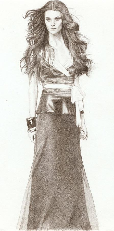Model Drawing - Model by Nur Adlina