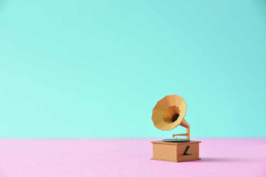 Model Record Player Made Of Paper Photograph by Yagi Studio