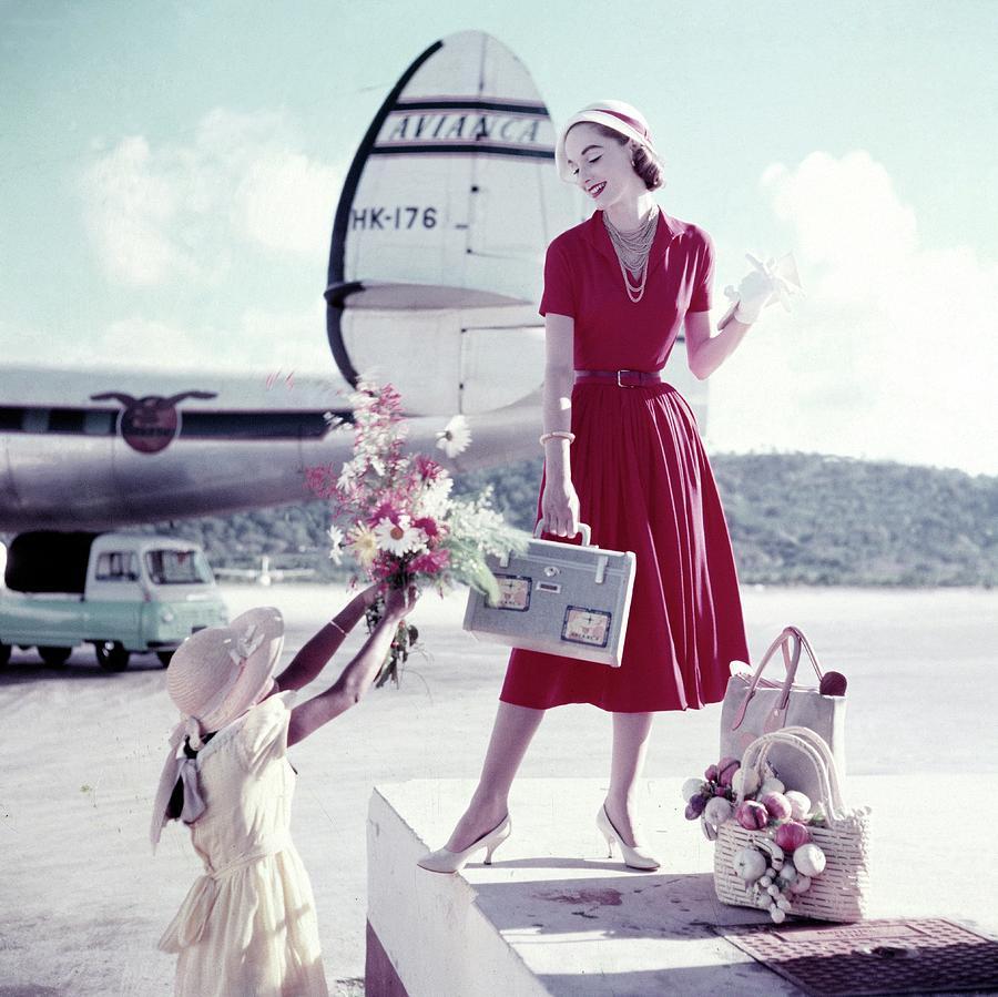 Model Romaine Simenson Stands On A Platform Photograph by Frances McLaughlin-Gill