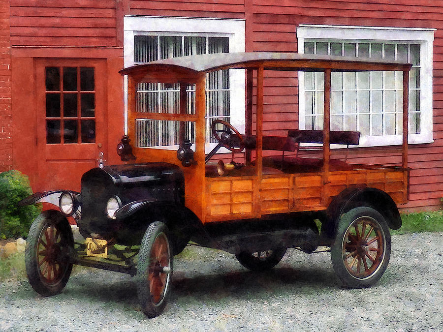 Model T Photograph - Model T Station Wagon by Susan Savad