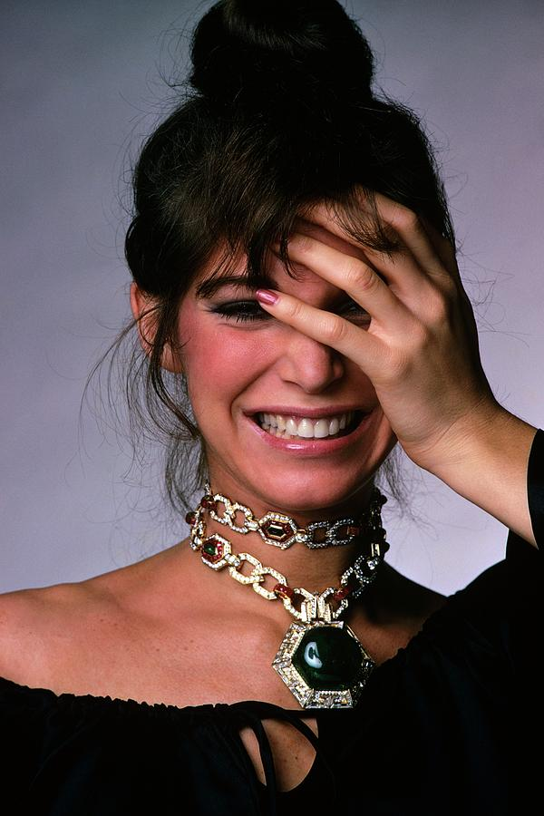 Model Wearing A Bulgari Necklace Photograph by Gianni Penati