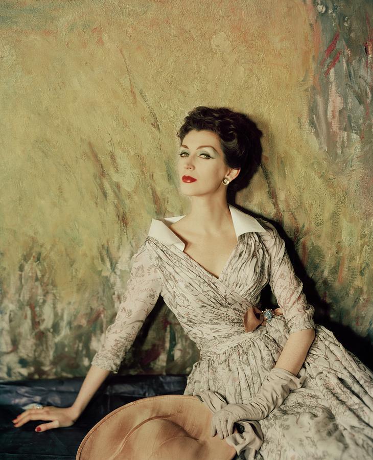 Model Wearing A Fath Dress Photograph by Henry Clarke