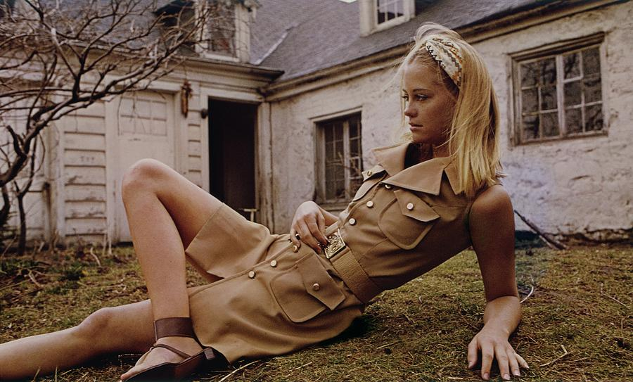 Model Wearing A Khaki Dress Photograph by Sante Forlano
