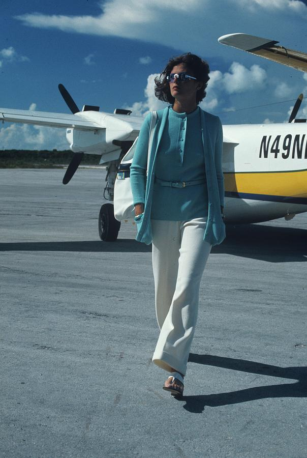 Model Wearing A Kimberly Ensemble On A Runway Photograph by Kourken Pakchanian