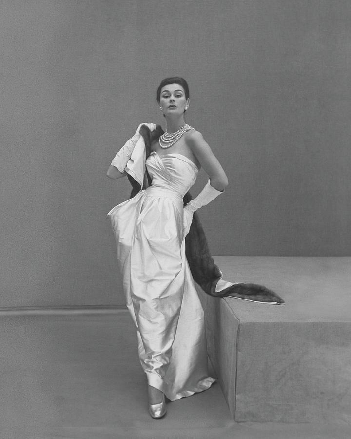 Model Wearing A Manguin Dress Photograph by Henry Clarke