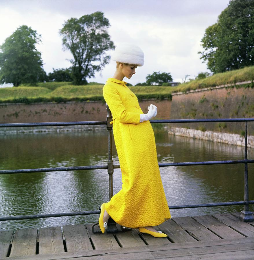 Fashion Photograph - Model Wearing A Mollie Parnis Coat by Horst P. Horst