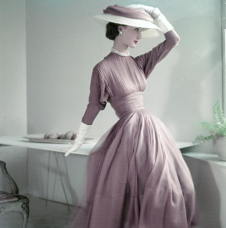 Model Wearing A Pink Dress And Matching Hat Photograph by Frances McLaughlin-Gill