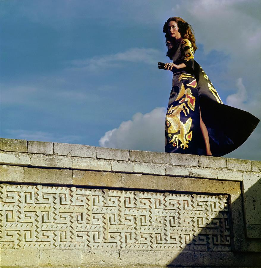 Model Wearing A Valentino Dress Photograph by Henry Clarke
