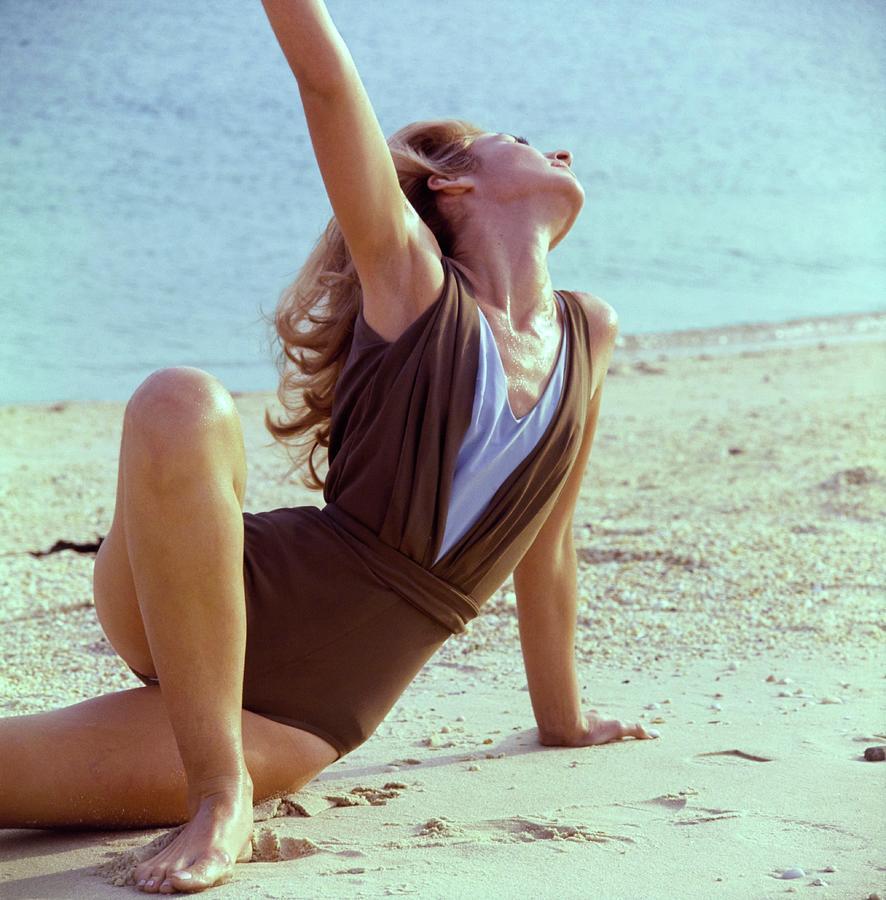 Model Wearing An Elizabeth Stewart Swimsuit Photograph by Horst P. Horst