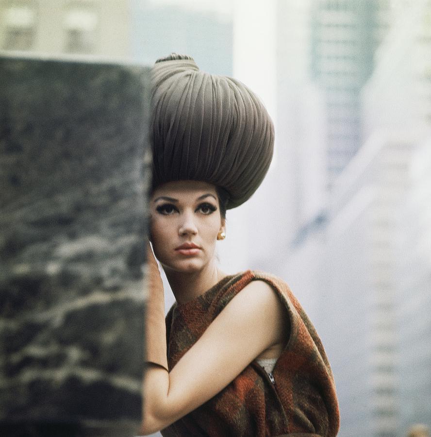 b4b0b4b0ddb Model Wearing Lilly Dache Hat Photograph by Horst P. Horst