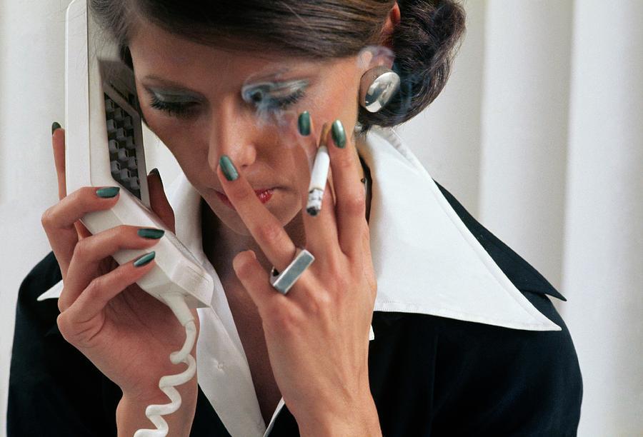 Fashion Photograph - Model Wearing Revlon Nail Polish by Kourken Pakchanian