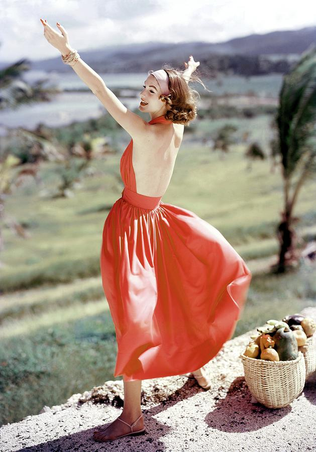 Model Wearing Sundress Photograph by Frances McLaughlin-Gill