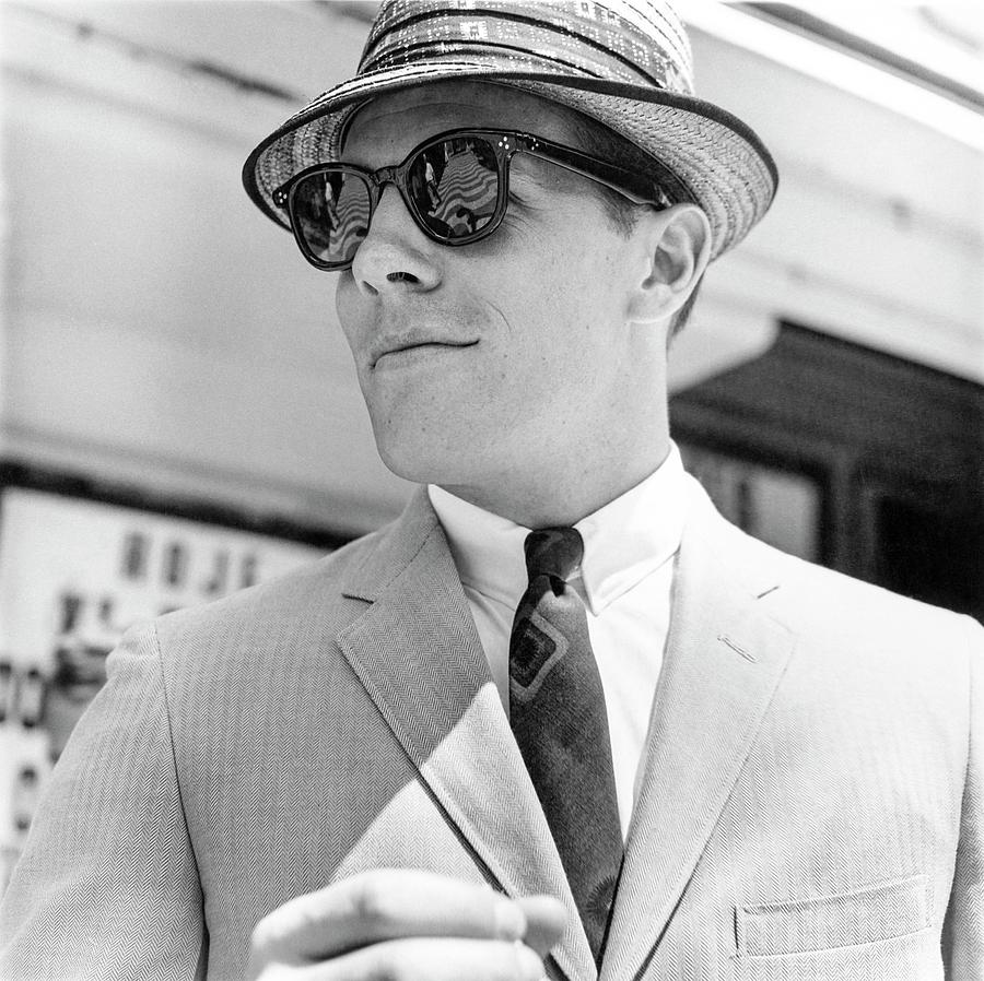 Model Wearing Sunglasses Photograph by Richard Waite